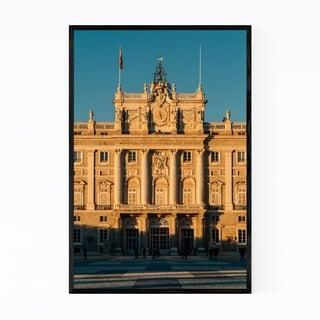 Noir Gallery Madrid Spain City Royal Palace Framed Art Print