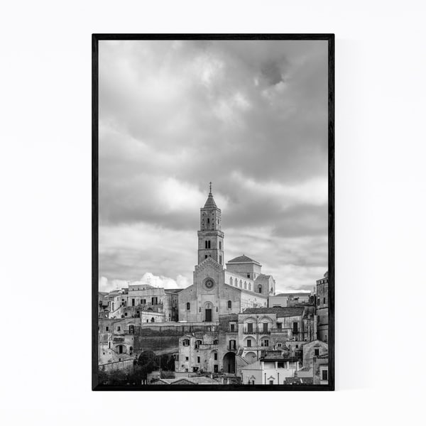 Noir Gallery Black & White Matera Italy Framed Art Print