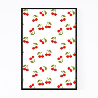 Noir Gallery Cherry Kitchen Fruit Pattern Framed Art Print