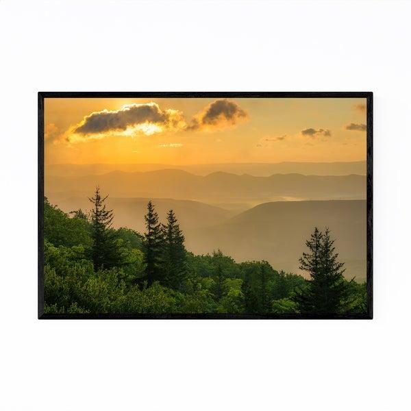 Noir Gallery Mountains Sunrise Landscape Framed Art Print