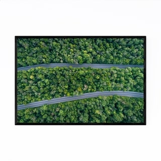 Noir Gallery Aerial Trees Forest Roads Nature Framed Art Print