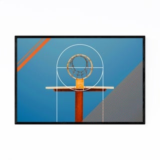Noir Gallery Basketball Sports Geometric Hoop Framed Art Print
