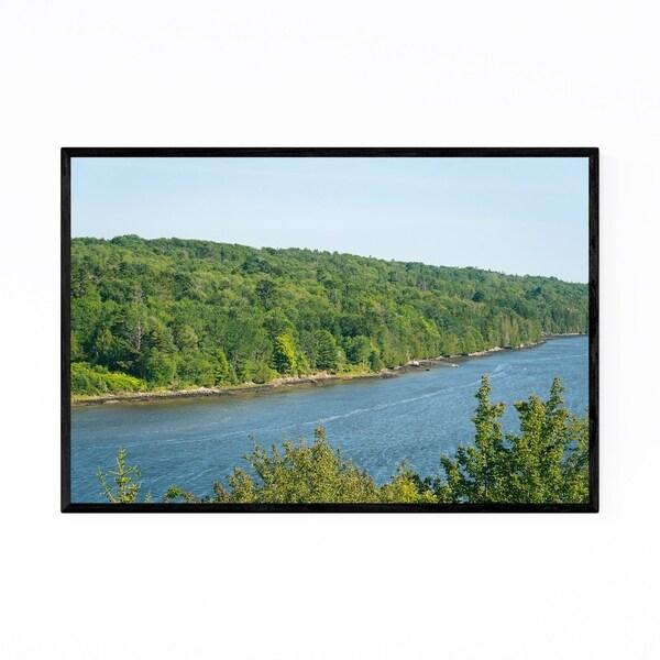 Noir Gallery Penobscot River Maine Nature Framed Art Print