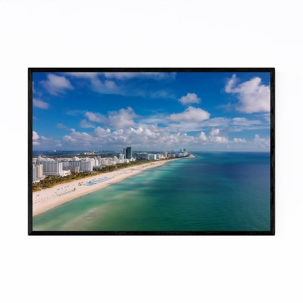 Noir Gallery Miami Beach Florida Coastal Framed Art Print