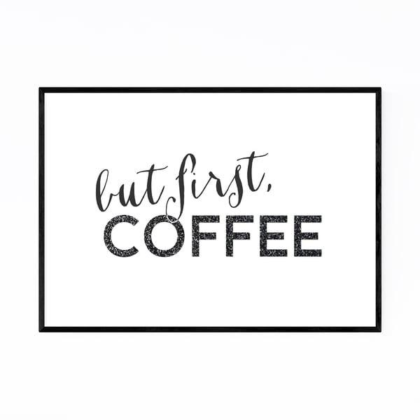 Noir Gallery Coffee Kitchen Typography Framed Art Print