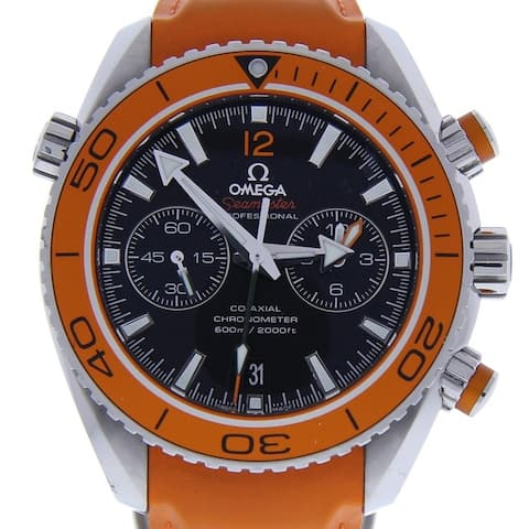 Omega Men's 232.32.46.51.01.001 'Seamaster Planet Ocean' Chronograph Orange Rubber Watch