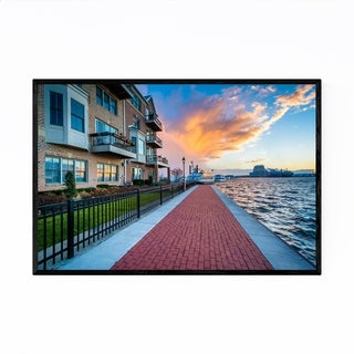 Noir Gallery The Canton Waterfront Baltimore Framed Art Print