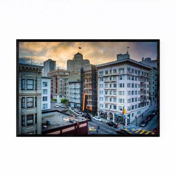 Noir Gallery Downtown San Francisco Sunset Framed Art Print
