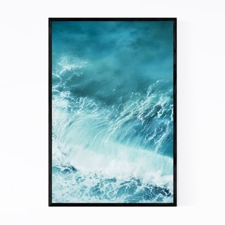 Noir Gallery Crashing Waves Ocean Photography Framed Art Print