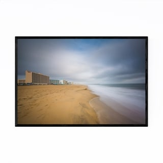 Noir Gallery Coastal Virginia Beach Ocean Framed Art Print