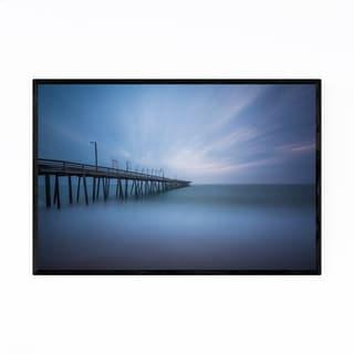 Noir Gallery Virginia Beach Fishing Pier Framed Art Print