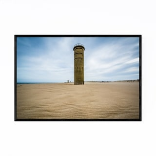 Noir Gallery Delaware Cape Henlopen Beach Framed Art Print