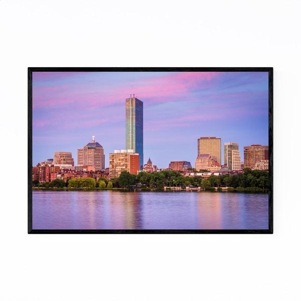 Noir Gallery Boston Charles River & Back Bay Framed Art Print