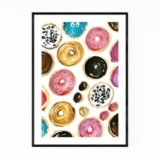 Noir Gallery Donut Food Kitchen Illustration Framed Art Print