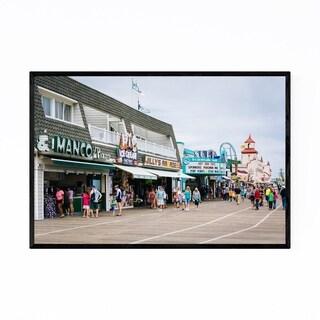 Noir Gallery Ocean City Boardwalk New Jersey Framed Art Print