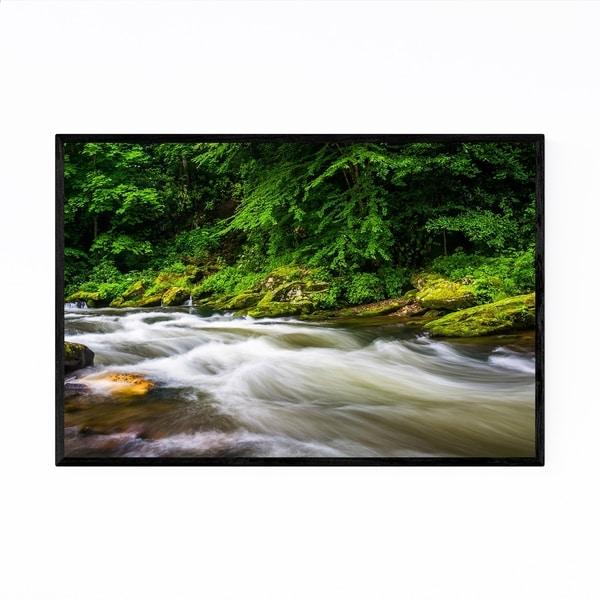 Noir Gallery Smoky Mountains Creek Forest Framed Art Print