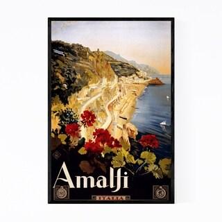 Noir Gallery Amalfi, Italy Travel Poster Framed Art Print