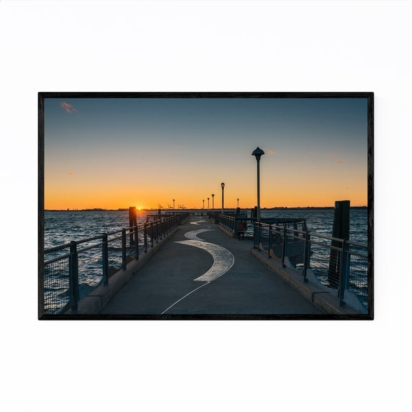 Noir Gallery Red Hook Brooklyn NYC Sunset Framed Art Print
