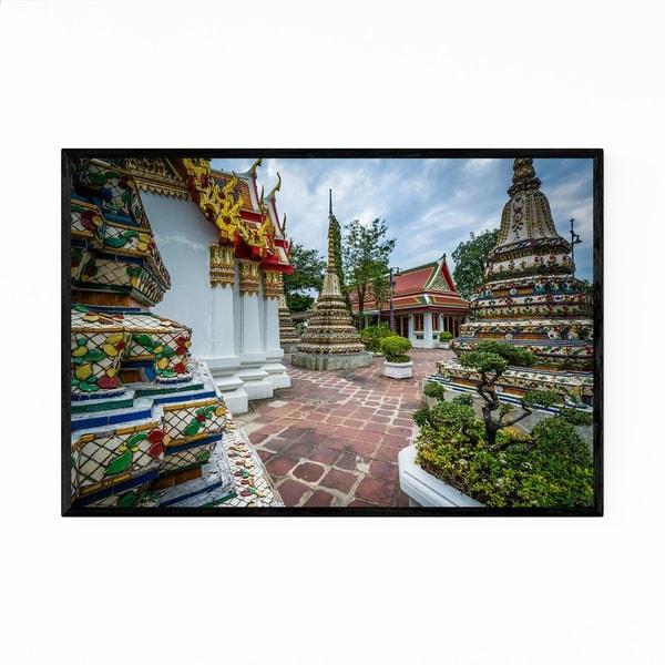 Noir Gallery Bangkok Wat Pho Buddhist Temple Framed Art Print