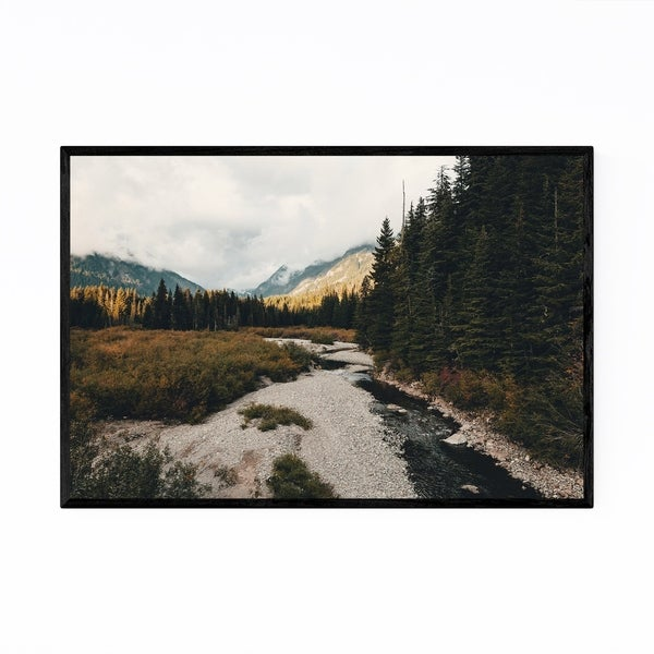 Noir Gallery Snoqualmie Washington Mountains Framed Art Print
