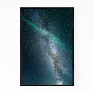 Noir Gallery Aurora Borealis Vik Iceland Framed Art Print