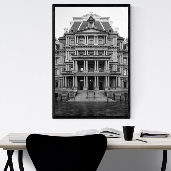 Noir Gallery Eisenhower Office Washington DC Framed Art Print