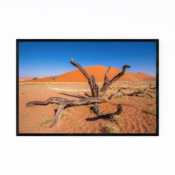 Noir Gallery Namibia Desert Dunes Landscape Framed Art Print