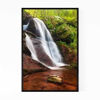 Noir Gallery Bulgaria Waterfall Forest Framed Art Print