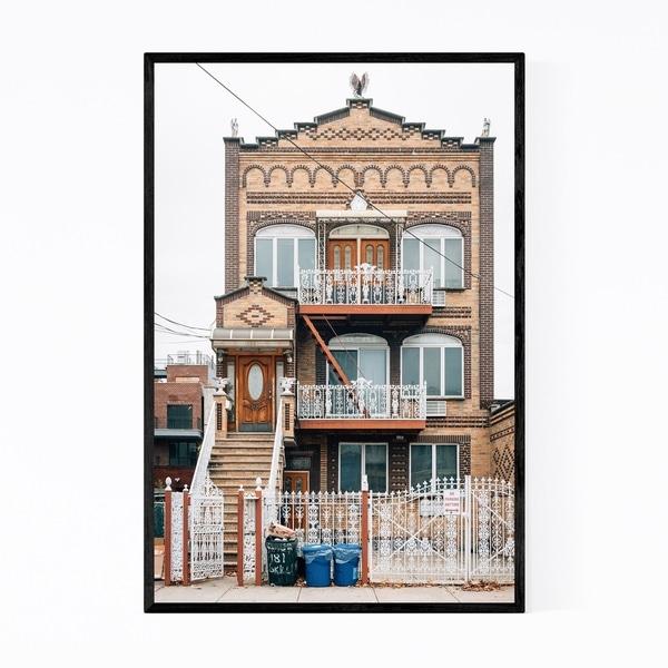 Noir Gallery Williamsburg New York City House Framed Art Print