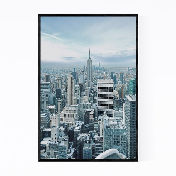 Noir Gallery Empire State Building New York Framed Art Print