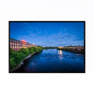 Noir Gallery New Hampshire Merrimack River Framed Art Print