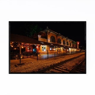 Noir Gallery Peoria, Illinois Train Station Framed Art Print