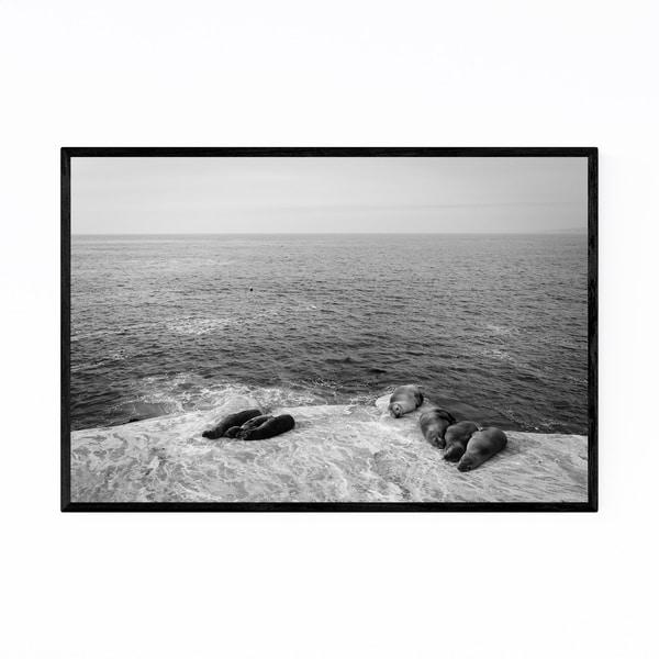 Noir Gallery Black White La Jolla California Framed Art Print