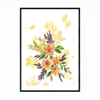 Noir Gallery Watercolor Loose Flower Bouquet Framed Art Print