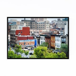 Noir Gallery Baltimore MD Downtown Skyline Framed Art Print