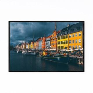 Noir Gallery Nyhavn Canal Copenhagen Denmark Framed Art Print