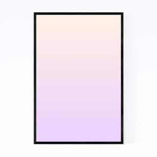 Noir Gallery Minimal Gradient Pastel Purple Framed Art Print