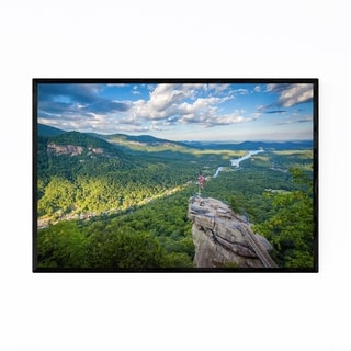 Noir Gallery Chimney Rock North Carolina Framed Art Print