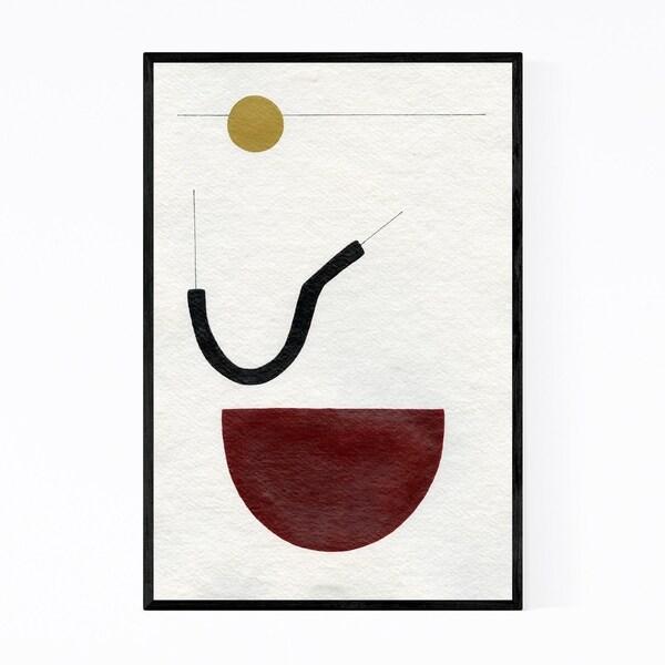 Noir Gallery Abstract Minimal Geometric Line Framed Art Print