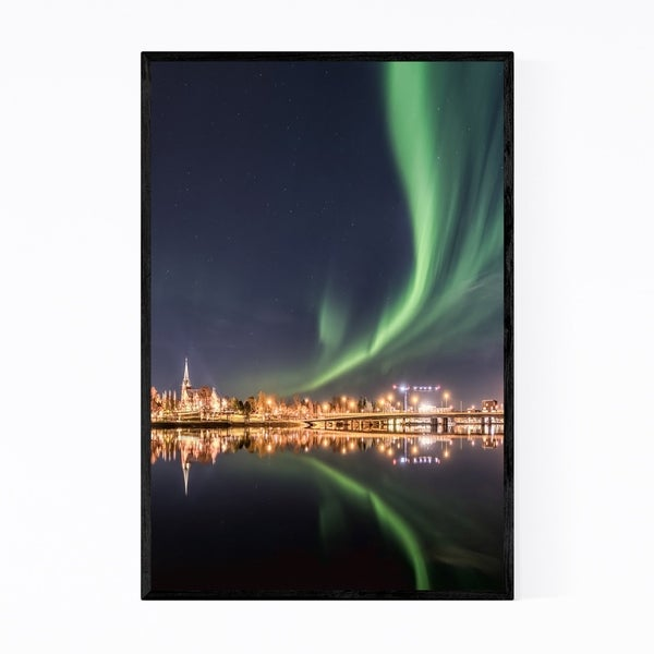 Noir Gallery Aurora Borealis Northern Lights Framed Art Print