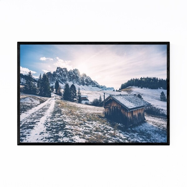 Noir Gallery Val di Funes South Tyrol Italy Framed Art Print