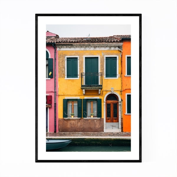 Noir Gallery Venice Italy Colorful Burano Framed Art Print