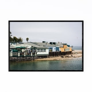 Noir Gallery Beach in Capitola California Framed Art Print