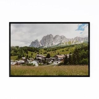 Noir Gallery Italy Dolomites Mountains Nature Framed Art Print