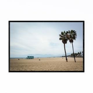 Noir Gallery Coastal Palm Trees Venice Beach Framed Art Print