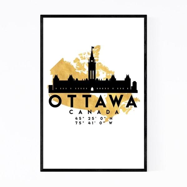 Noir Gallery Minimal Ottawa Skyline Framed Art Print