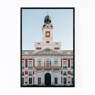 Noir Gallery Madrid Spain City Puerta del Sol Framed Art Print