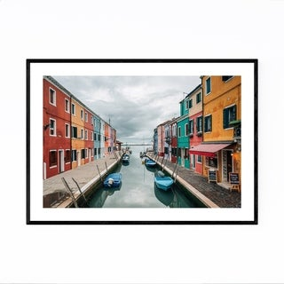 Noir Gallery Venice Italy Colorful Burano Framed Art Print