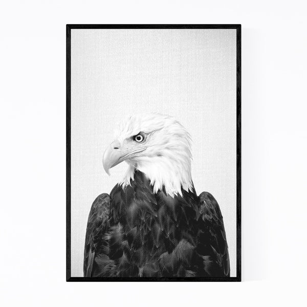 Noir Gallery American Bald Eagle Patriot Bird Framed Art Print