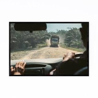 Noir Gallery Dirt Road Sumatra Indonesia Framed Art Print